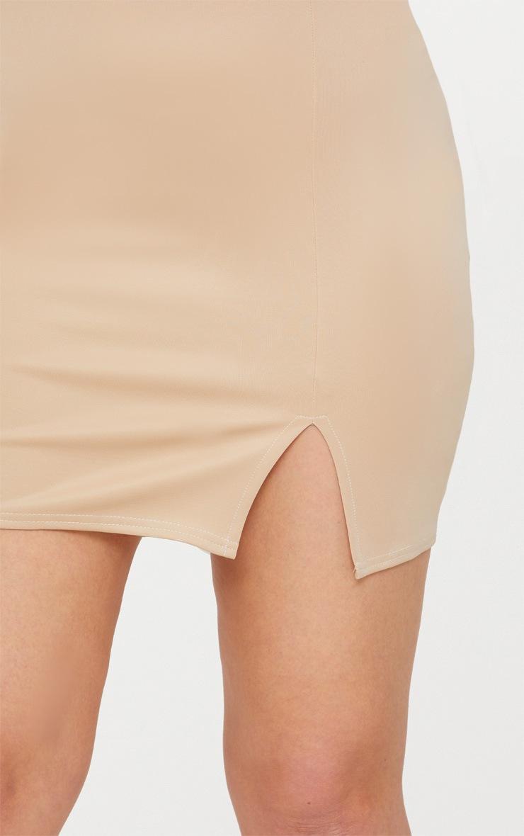 Plus Stone Basic Mini Split Front Skirt 6