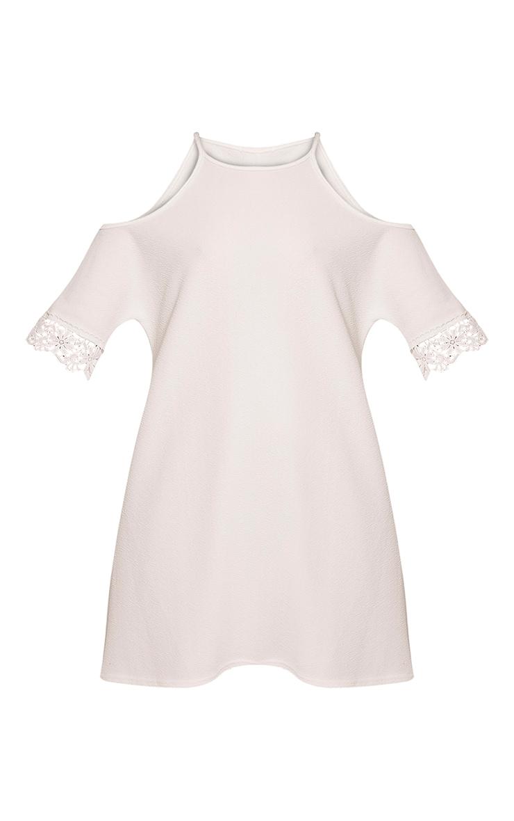 Christie robe en dentelle épaules dénudées blanche 3
