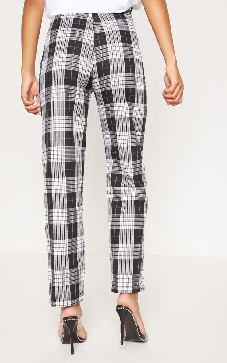 Black Check Straight Leg Trouser 4