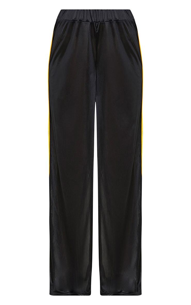 Karlotta Black Sheer Zip Wide Leg Track Pants 3