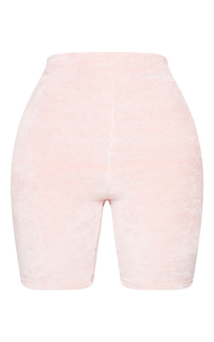 Shape Baby Pink Velour Ruched Bum Bike Shorts 6