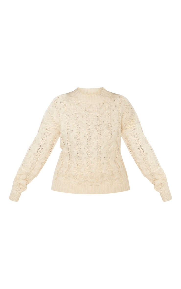 Plus Cream Cable Knit Jumper 3
