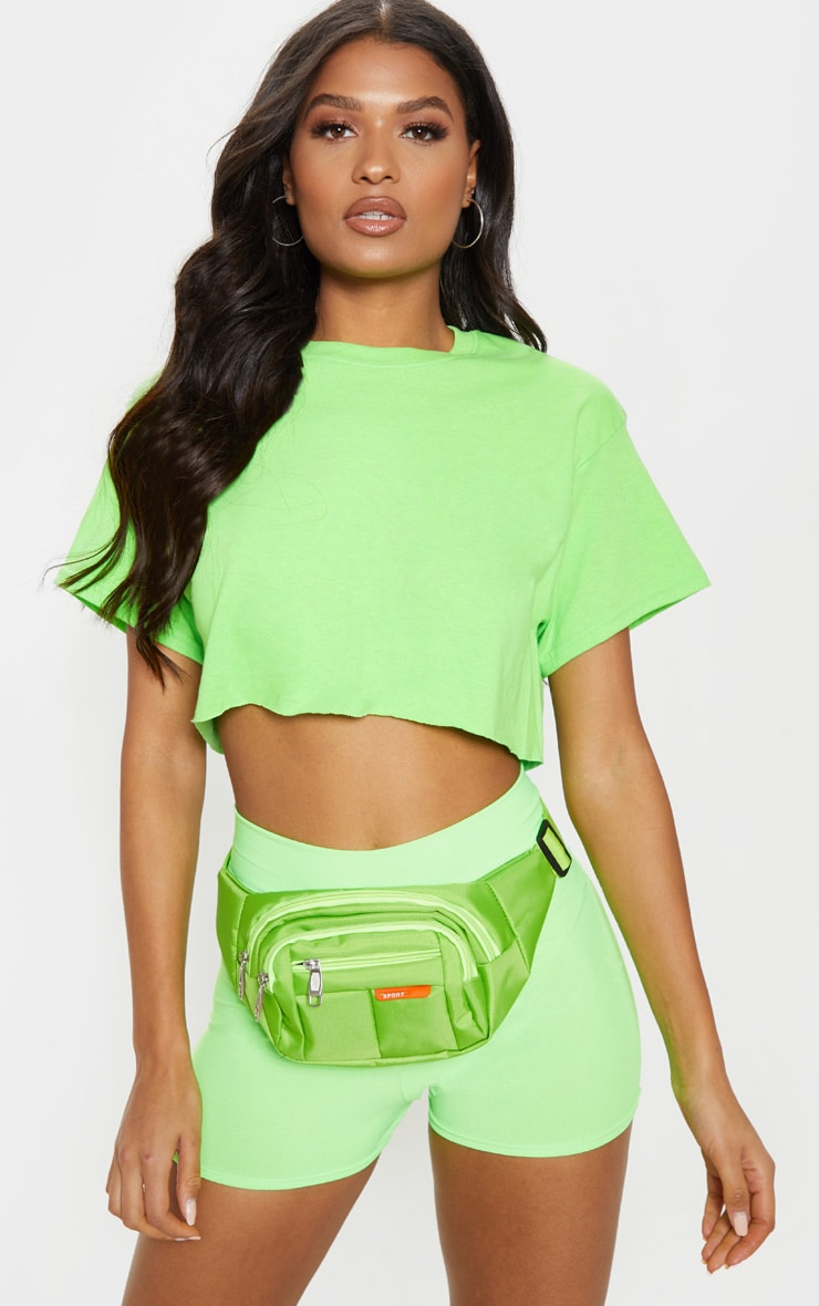 Lime Ultimate Crop T Shirt 6