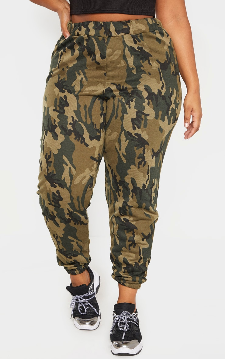 Plus Khaki Camo Track Pants 2