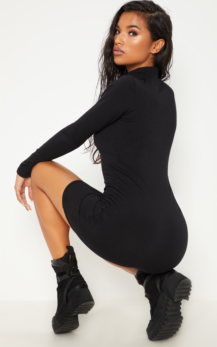 PRETTYLITTLETHING Black Paid To Wear This Bodycon Dress 2