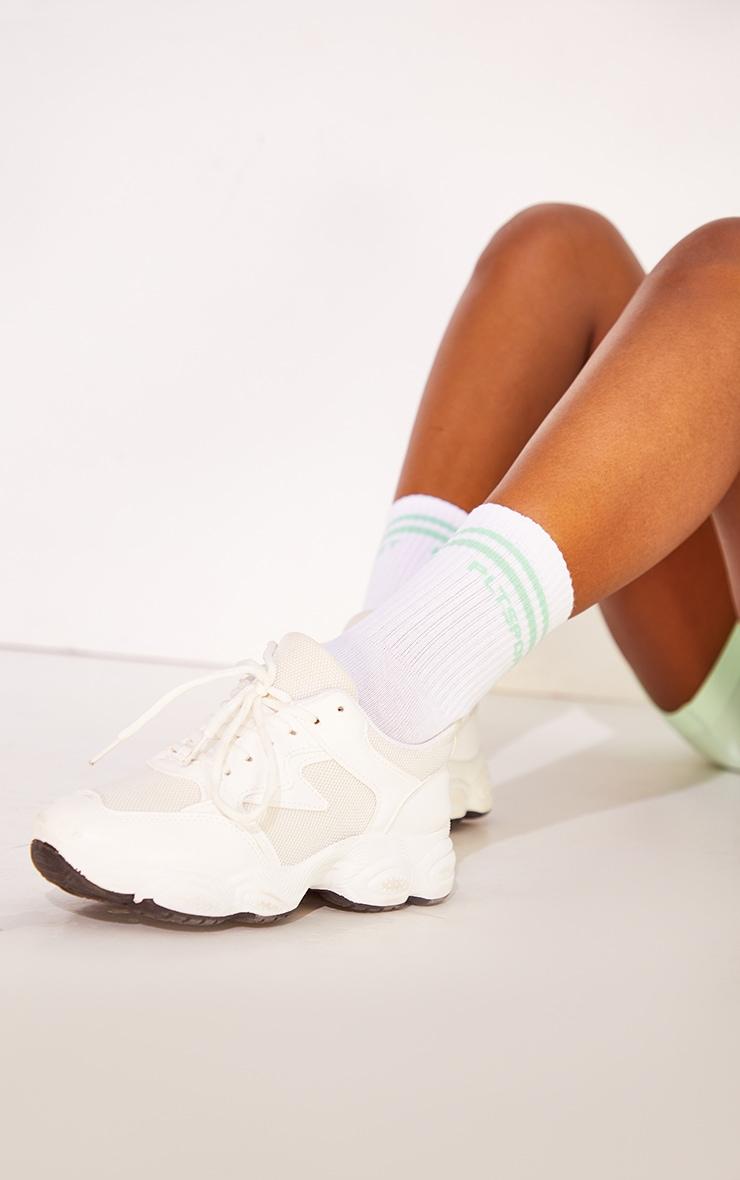PRETTYLITTLETHING Mint Sports Socks 2
