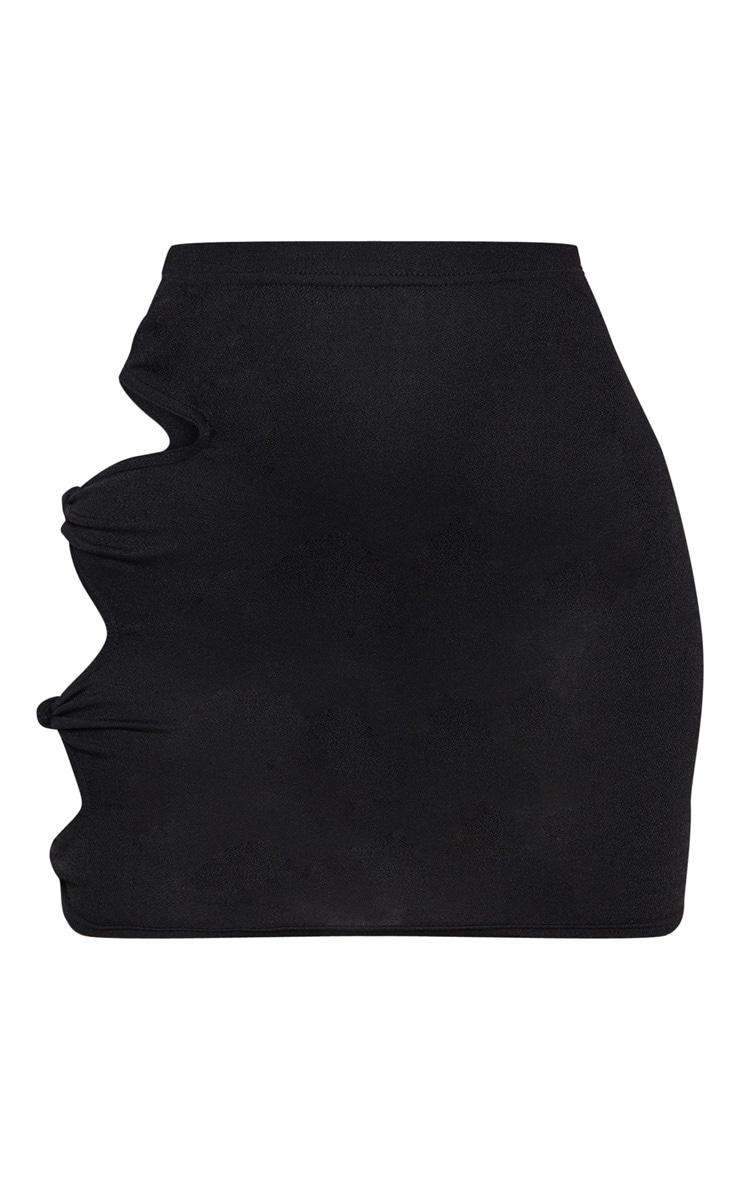 Black Cut Out Mini Skirt 3