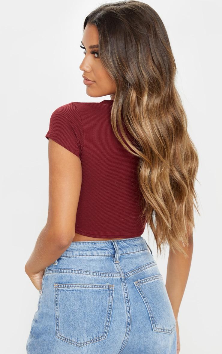 Scarlet Rib Crop T Shirt 2