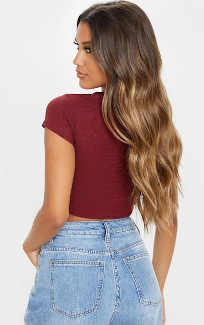 Scarlet Rib Crop T Shirt