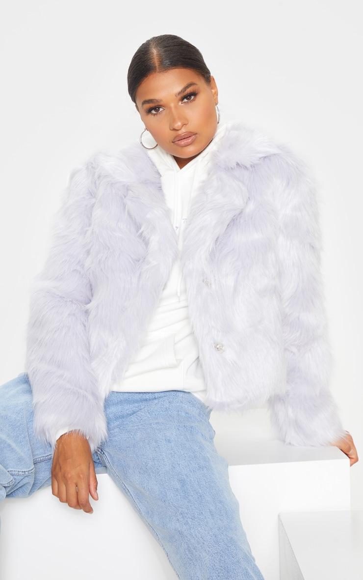 Grey Faux Fur Jacket 1