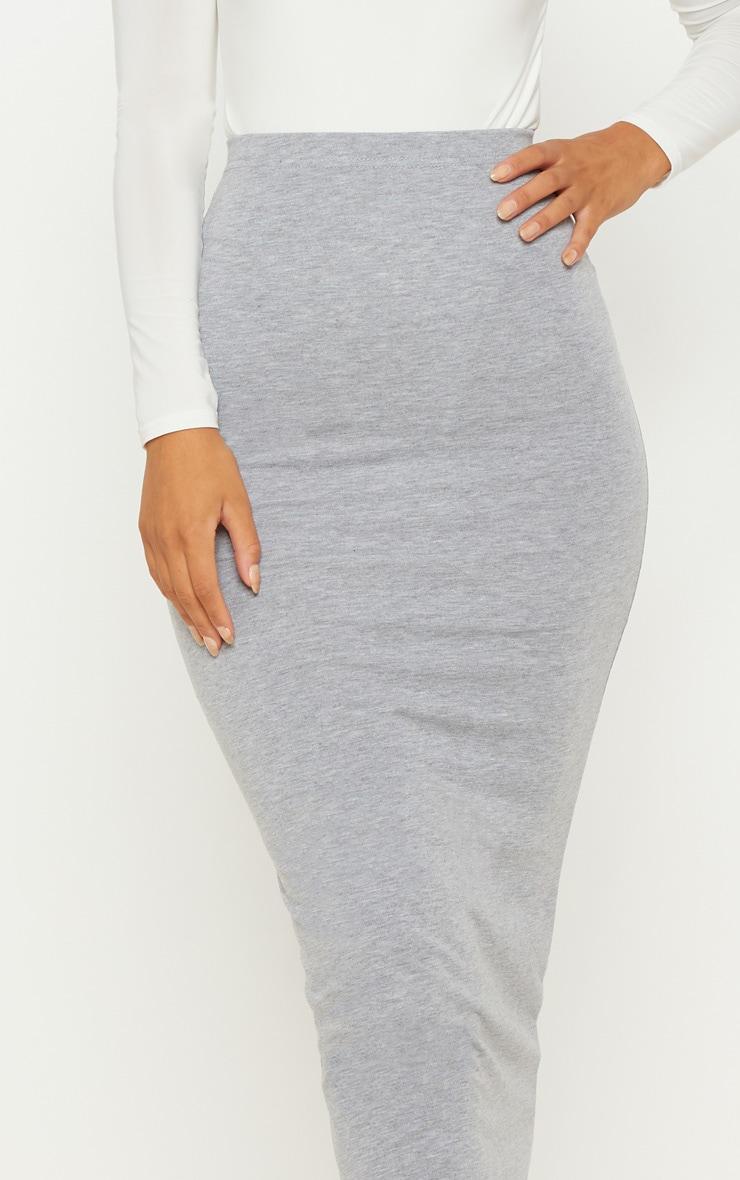 Basic Grey Midaxi Skirt 5