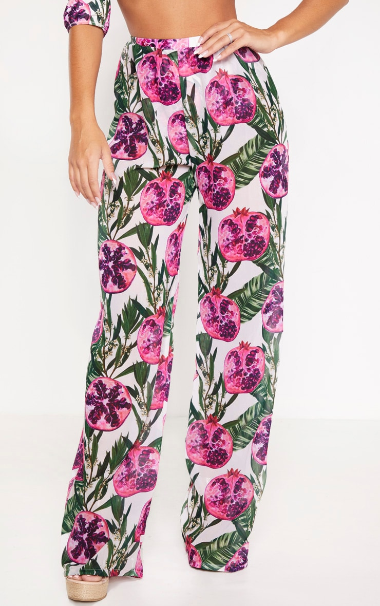 Pink Pomegranate Wide Leg Trousers 2