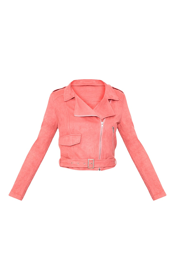 Niki Rose Faux Suede Biker Jacket 3