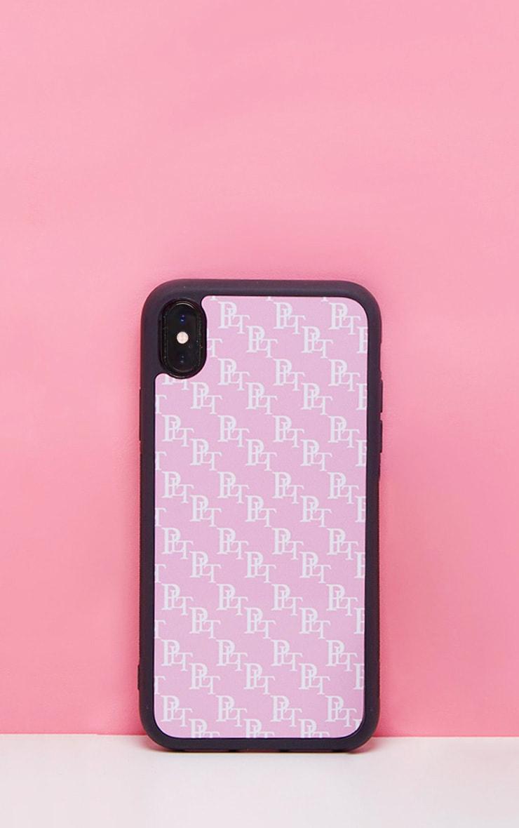 PRETTYLITTLETHING Baby Pink Monogram XR iPhone Case 1