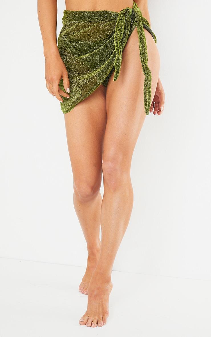 Green Glitter Sarong 3