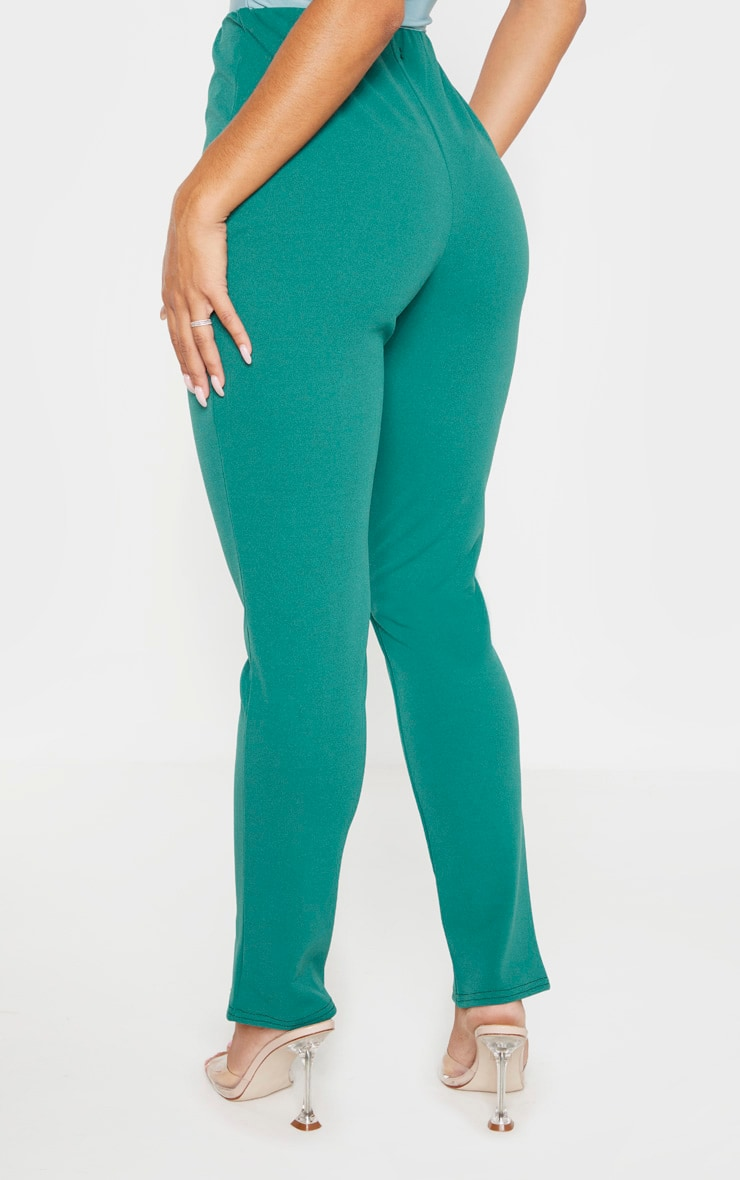 Emerald Green Split Front Trouser 4