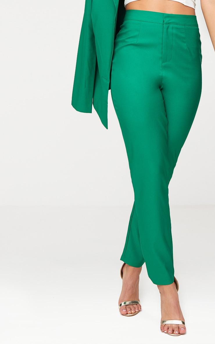 Bright Green Straight Leg Tailored Trouser 5