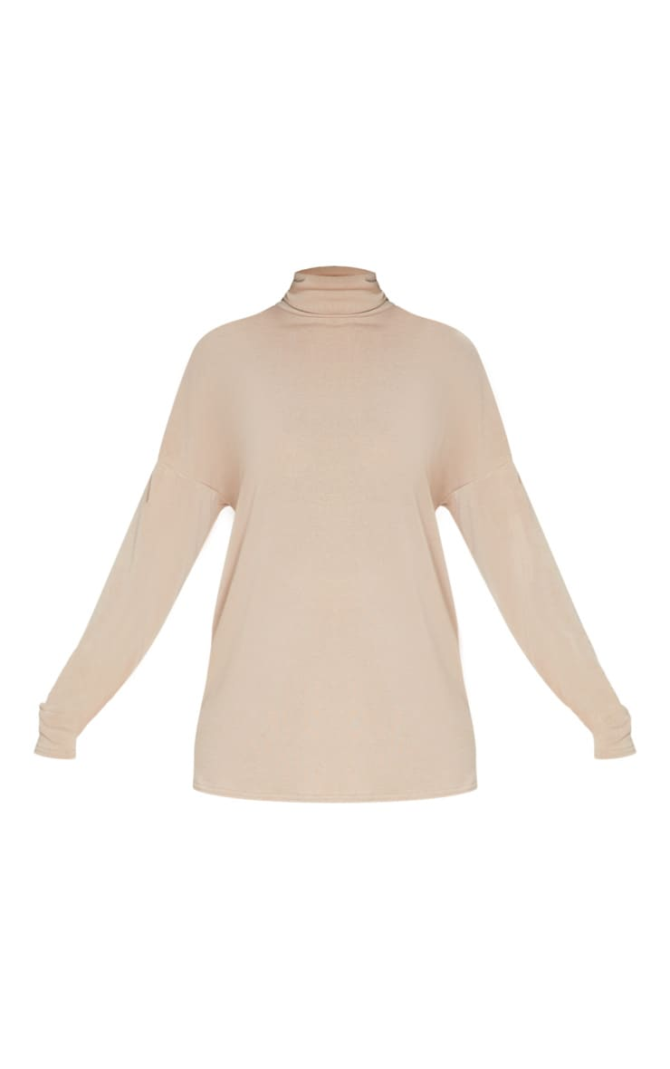 Stone Soft Cotton Roll Neck Oversized Sweater 6