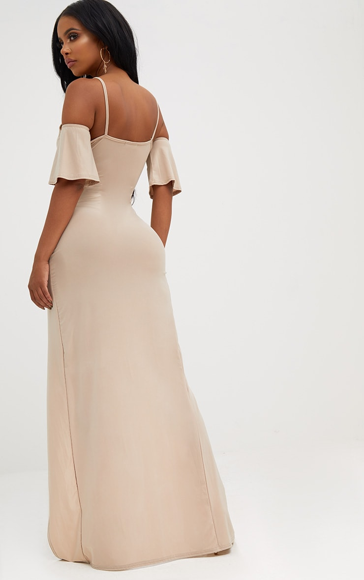 Shape Stone Slinky Wrap Front Maxi Dress 2