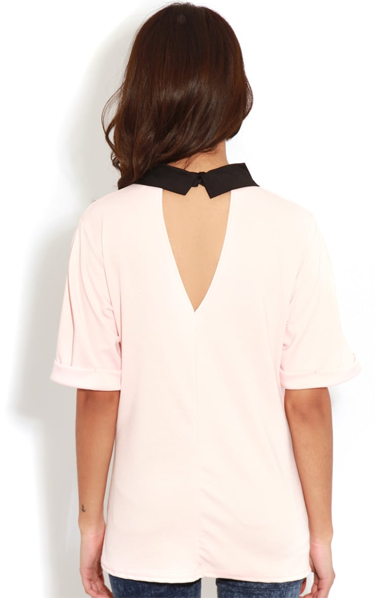 Albany Peach Collar Top 2