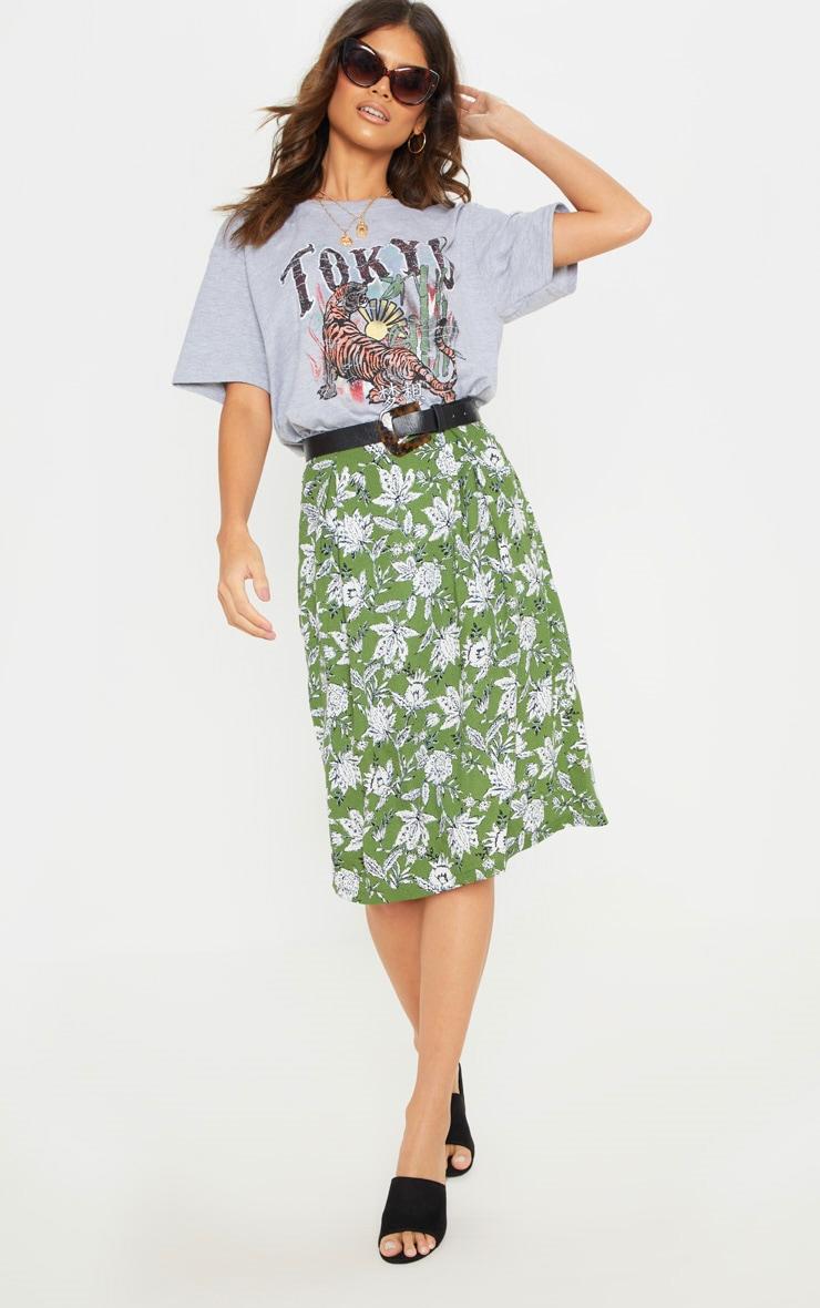 Grey Tokyo Oversized T Shirt 5