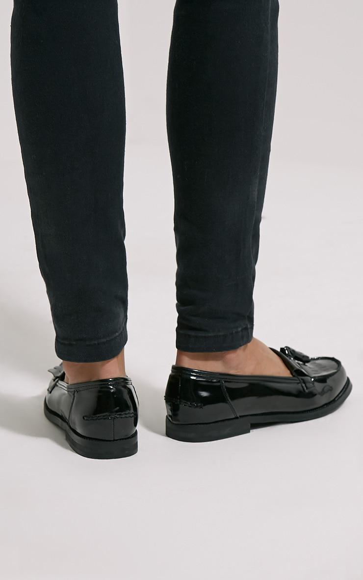 Trella Black Patent Loafers 2