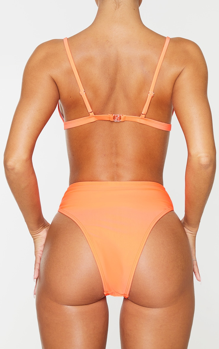 Coral Mix & Match High Waisted High Leg Bikini Bottom 3