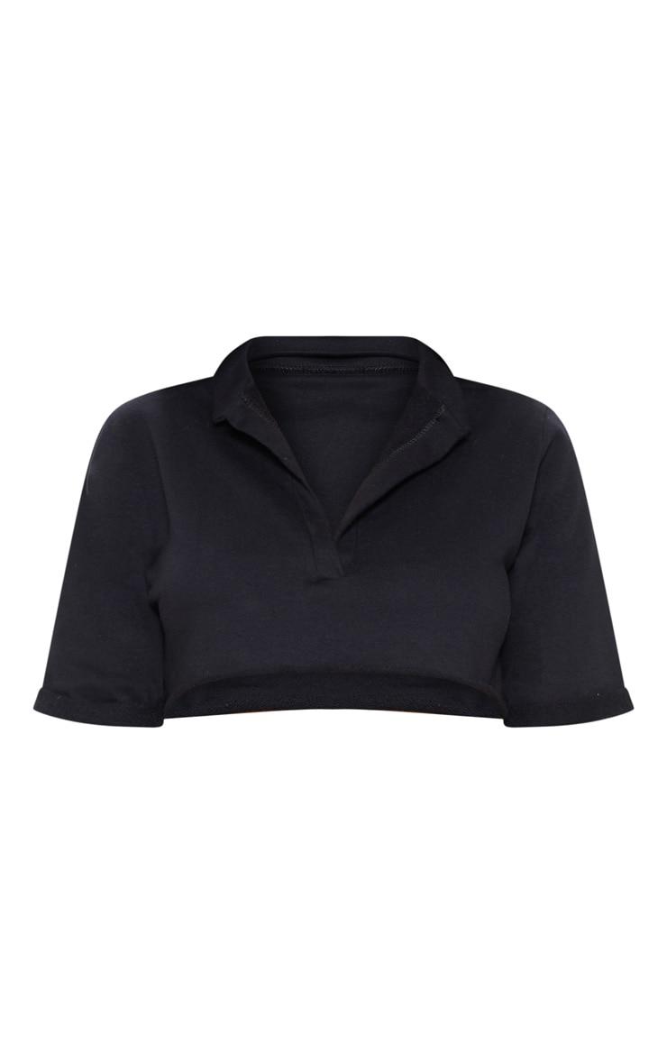 Shape Black Sweat Crop Top 3