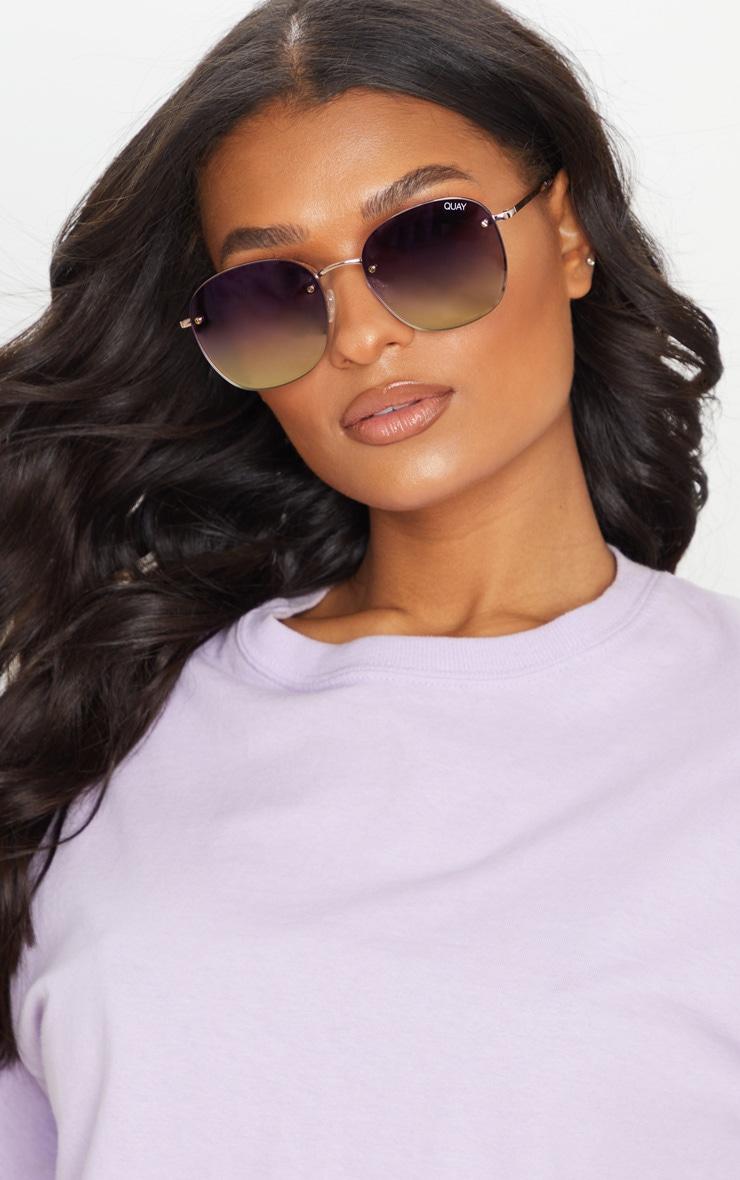 Quay X Chrissy Jezabell Rimless Sunglasses