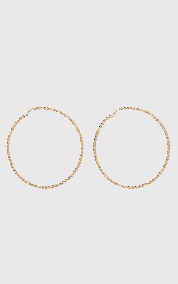 Matillda Gold Twisted Hoop Earrings 3