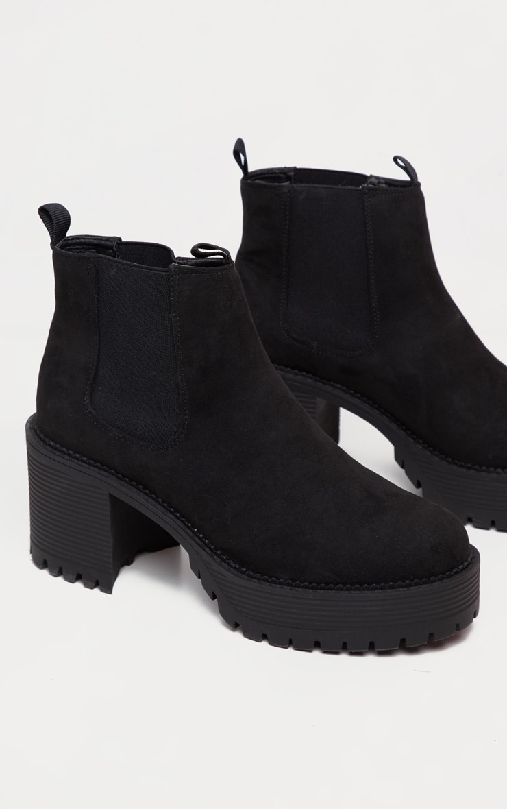 Black Micro Chunky Cleated Chelsea Ankle Boot 3