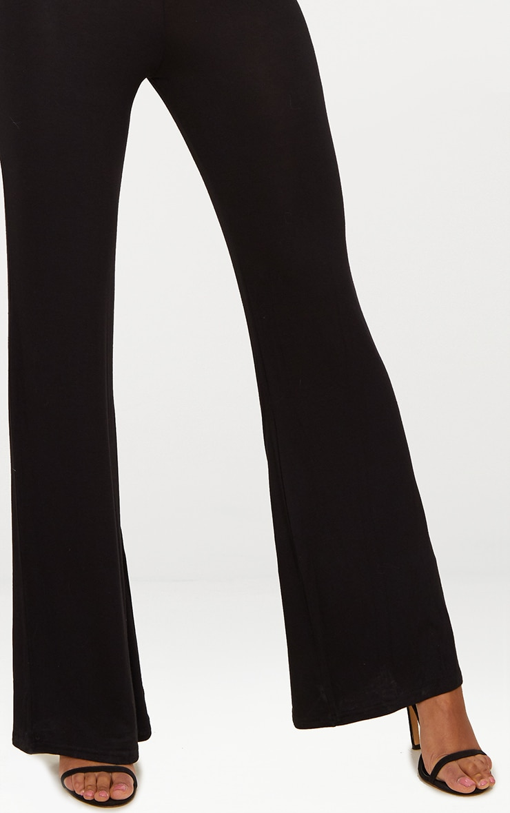 Basic Black Jersey Wide Leg Trousers 5