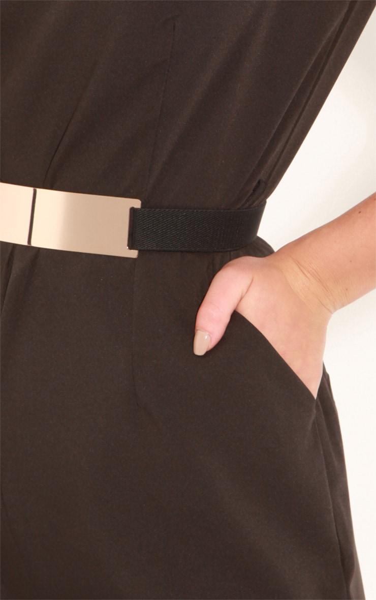 Alberta Black Short Sleeve Fitted Jumpsuit 5