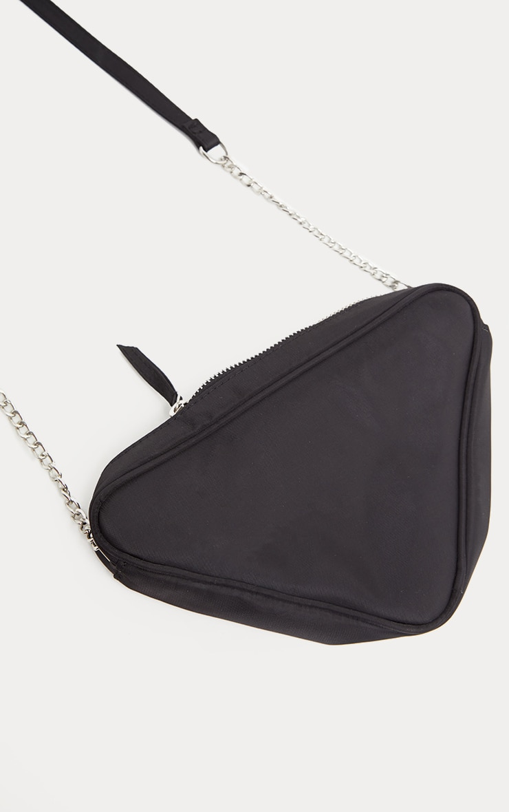 Black Nylon Triangle Cross Body 4