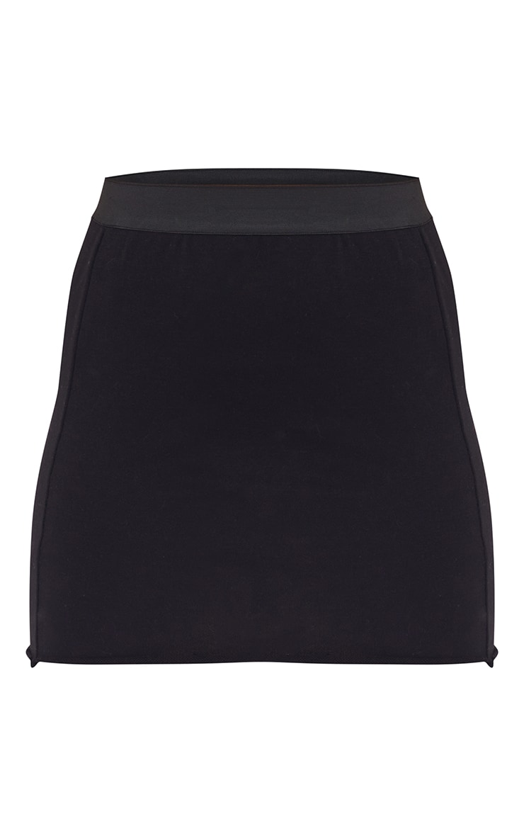 PRETTTYLITTLETHING Black Sweat Mini Skirt 6