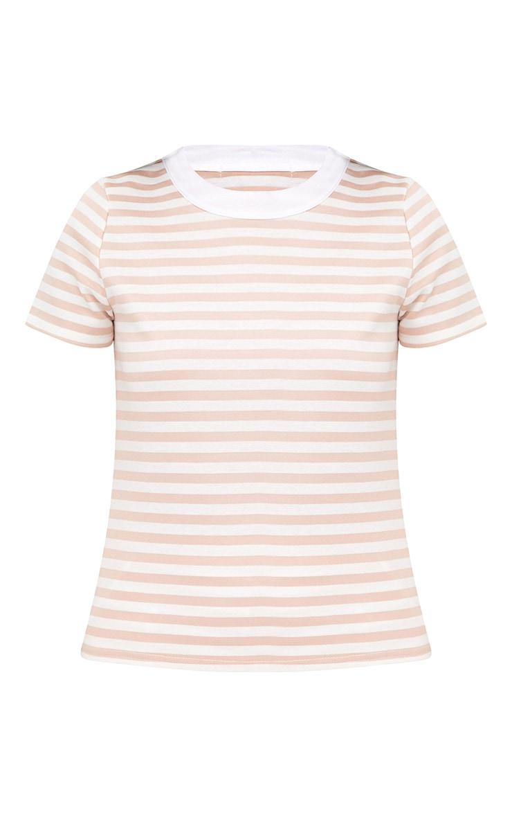 Nude Scuba Stripe Boxy T Shirt 3
