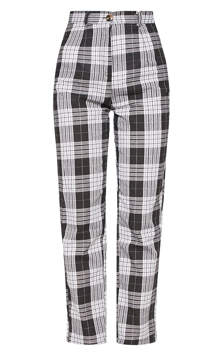 Black Check Straight Leg Trouser 3