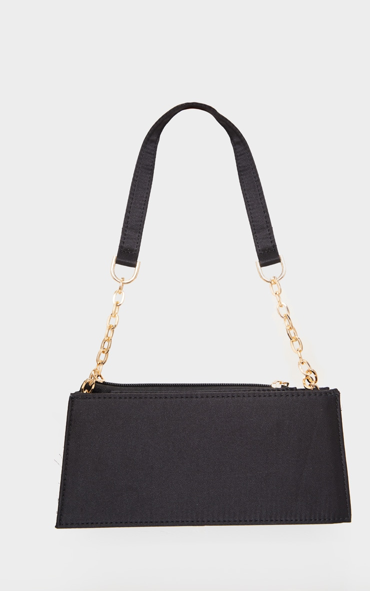 Black Chain Handle 90s Shoulder Bag          2