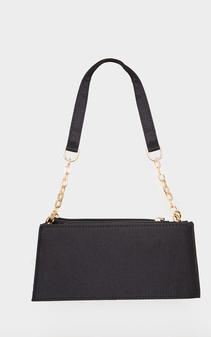Black Chain Handle 90s Shoulder Bag 2