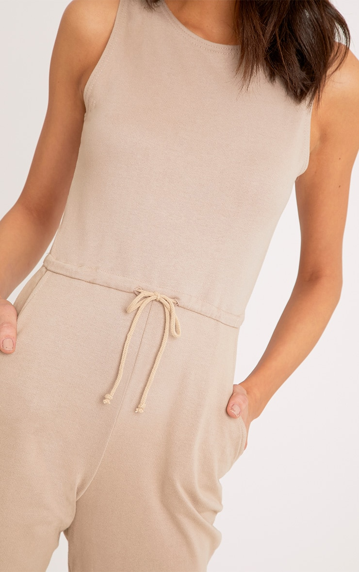 Sofie Nikki Taupe Sweat Jumpsuit  5