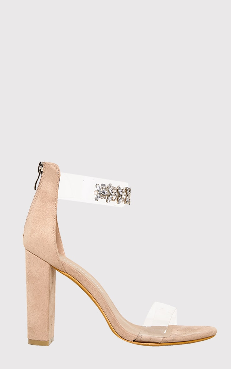 Kelle Nude Jewelled Strap Heeled Sandals 5