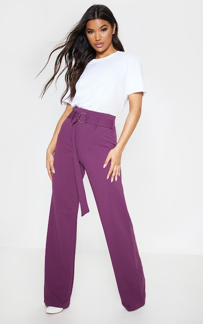 Pantalon large femme   Pantalon fluide   PrettyLittleThing FR 0736a1efa09
