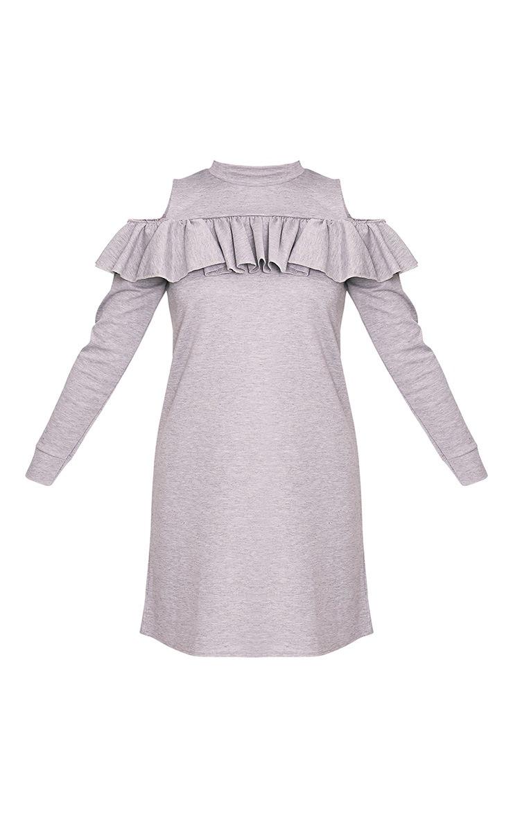 Bridy Grey Cold Shoulder Sweater Dress 4