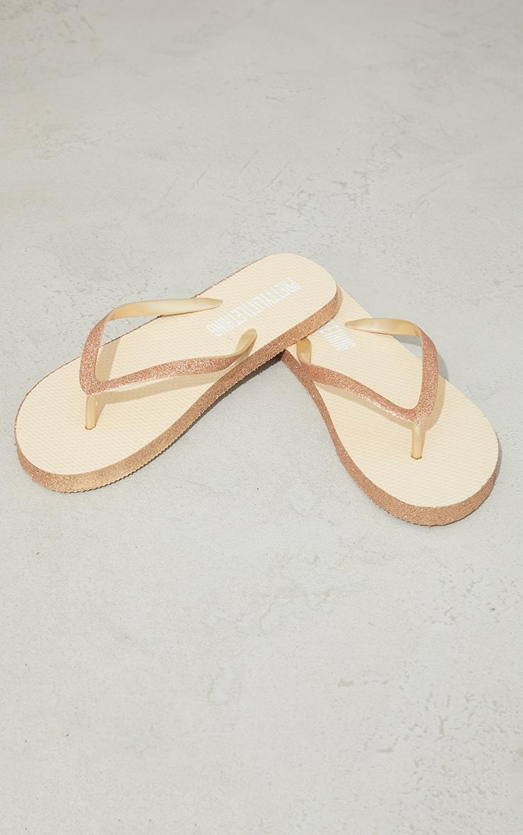 Gold Glitter Flip Flops 4