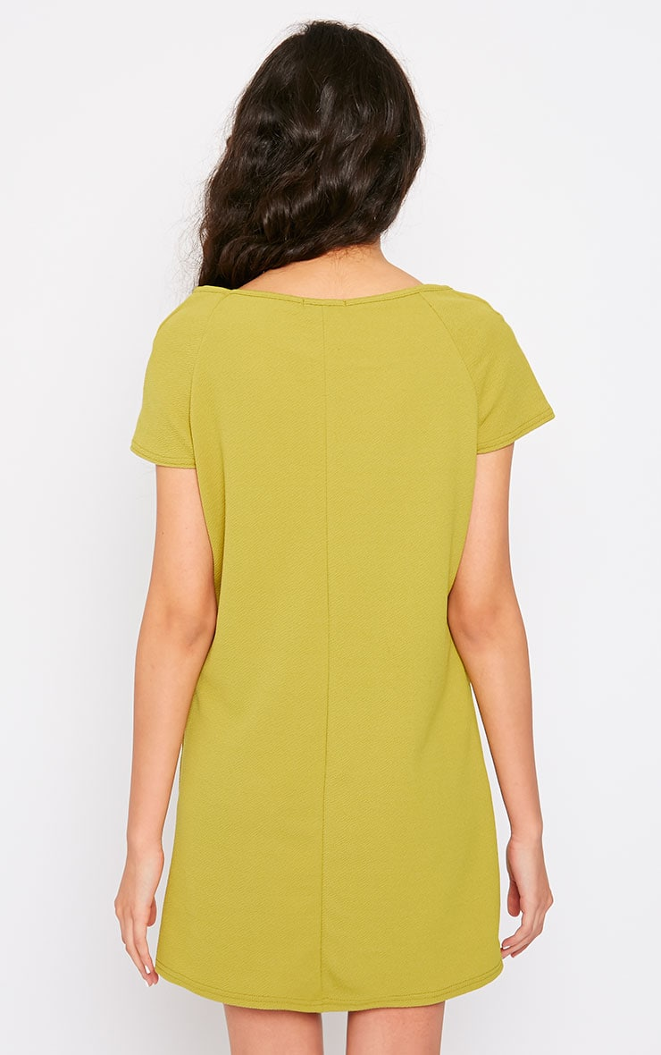 Camila Olive Loose Fit Shift Dress 2