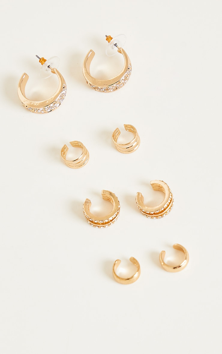 Gold Assorted Ear Cuffs 3