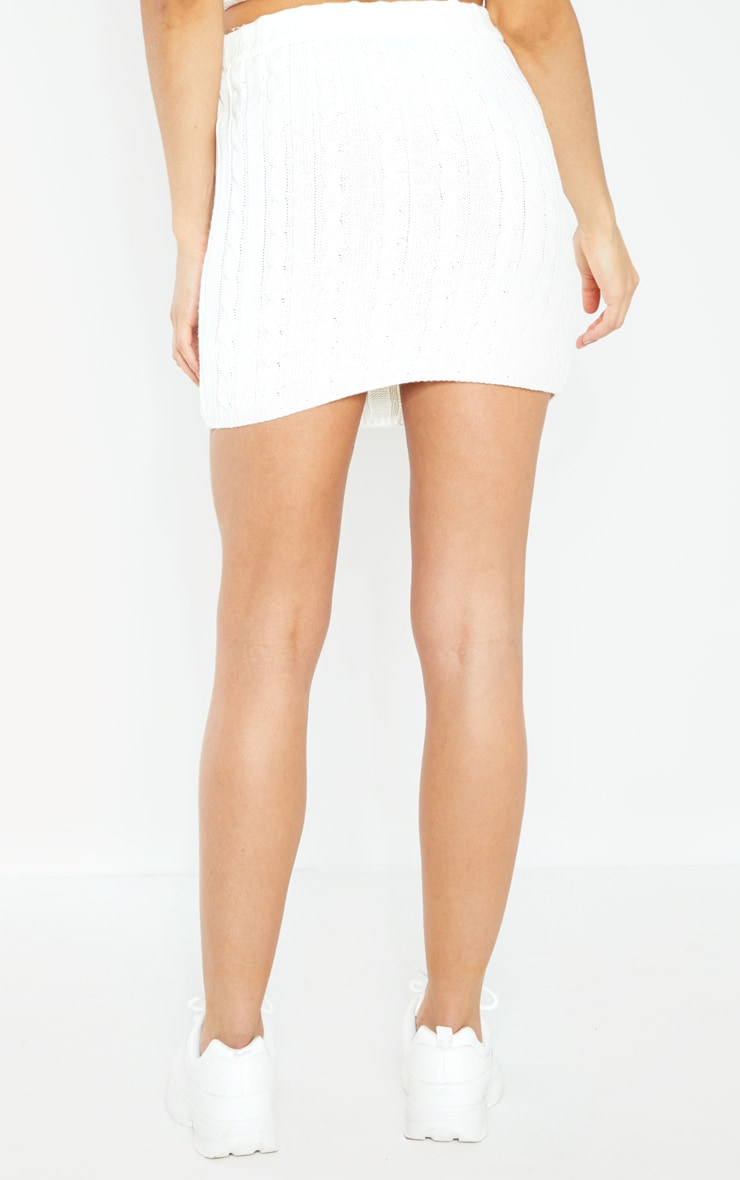 Cream Cable Knitted Skirt 4