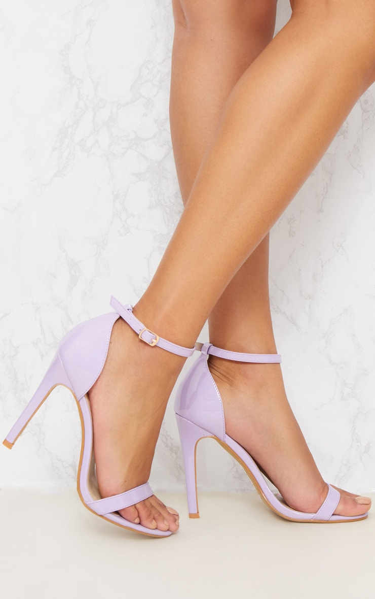 Lilac Heeled Strappy Sandal 1
