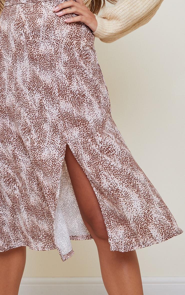 Pink Cheetah Print Floaty Midi Skirt 4
