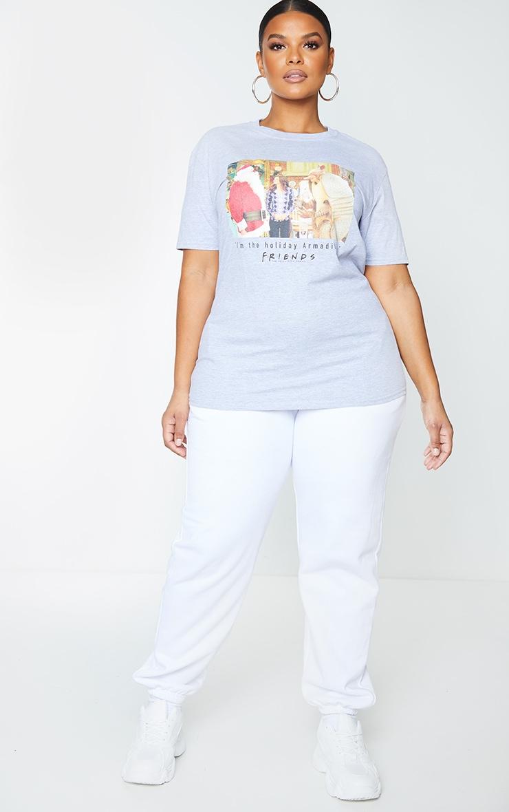 Plus Grey Friends Holiday Armadillo Slogan T Shirt 3